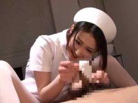 美人看護婦のパンストコキ抜き!亀頭を包み込んでスリスリされるとシゴかなくても発射