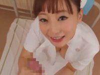 激カワ看護婦にシゴかれて顔射!笑顔で見つめながらフル勃起チ〇ポをパイズリフェラ