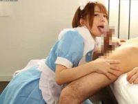 ノーハンドフェラごっくん!口内発射されると大量精子をツラそうに飲み込む美少女