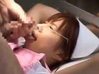 馬乗りフェラチオ大量顔射!手が使えず裏筋ペロペロに口内モゴモゴでイカせる看護婦